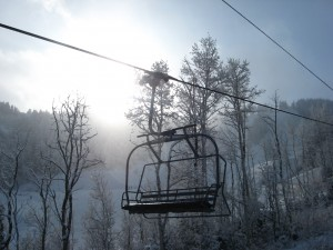 Carpenter Express Chairlift- December 8, 2009