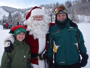 Santa's visit to Deer Valley in December 2008