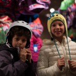 Natalie and Ethan, brother-and-sister who moved (with their brother Jack and their parents) this year to Park City from South Florida, have been skiing at Deer Valley for their whole lives (they are eight and 11 years-old).  Natalie liked the sweetly goofy style of the knit cap—and Ethan wanted to check the helmet for aerodynamics (but we wouldn't let him take it out for a test jump.)