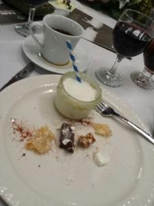 Dessert, partially eaten