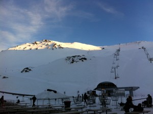 Mt Hutt ski area before the Super Combined race.