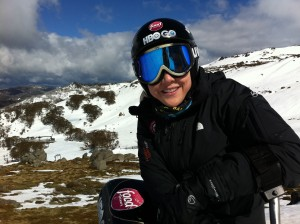 Top of the ski area in Thredbo Ski Area, Australia.