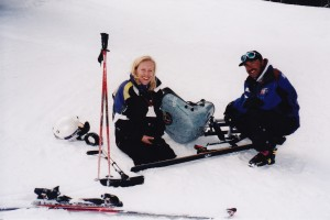 January 1999 first day I met Marcel and tried a mono-ski at the National Ability Center