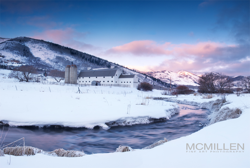 McPolin Barn, Park City, UT, winter 2013.