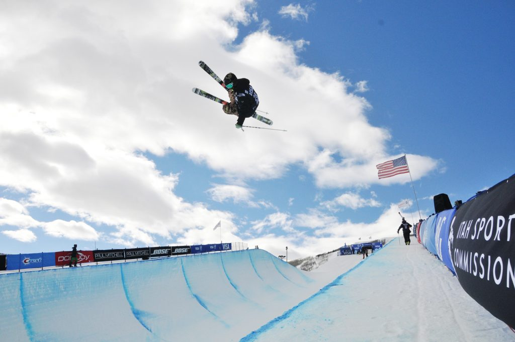 """Halfpipe qualifications 2015 Visa U.S. Freeskiing Grand Prix at Park City Mountain Resort in Park City, UT Photo © Melanie Harding"""