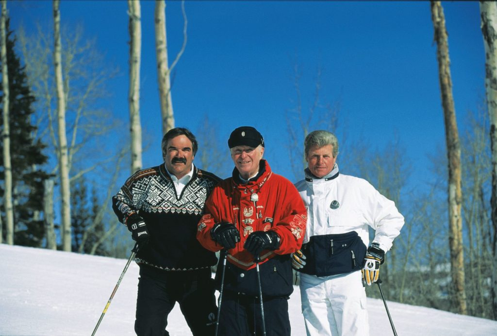 Bob Wheaton, Edgar Stern and Stein Eriksen at Deer Valley Resort