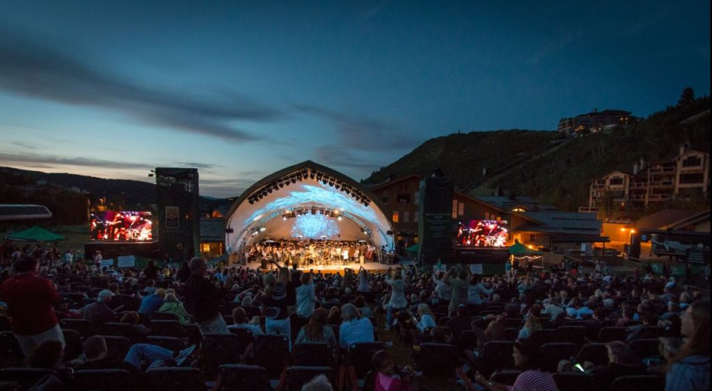 Deer Valley's Snow Park Outdoor Amphitheater