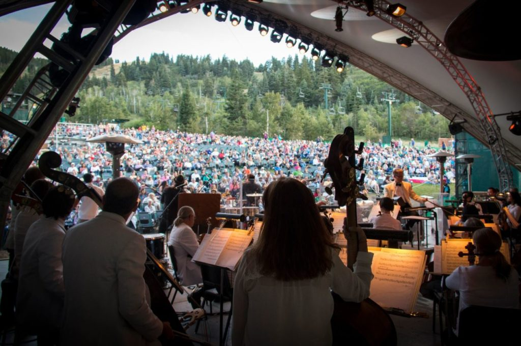 The Utah Symphony at Deer Valley's Snow Park Outdoor Amphitheater