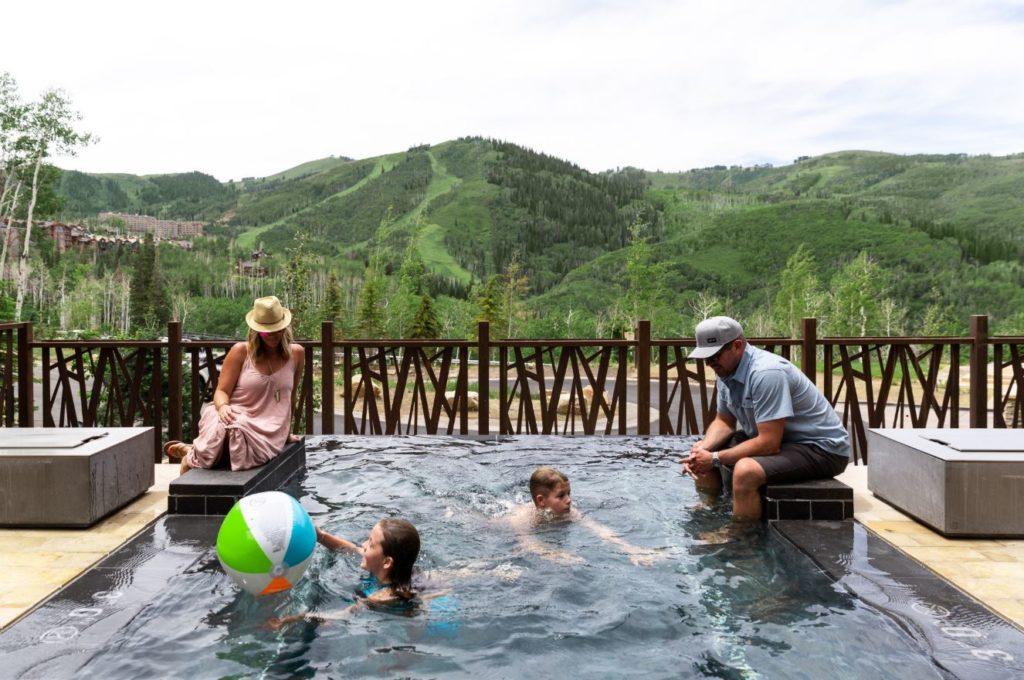 Family Pool in Park City, Utah at Deer Valley Resort