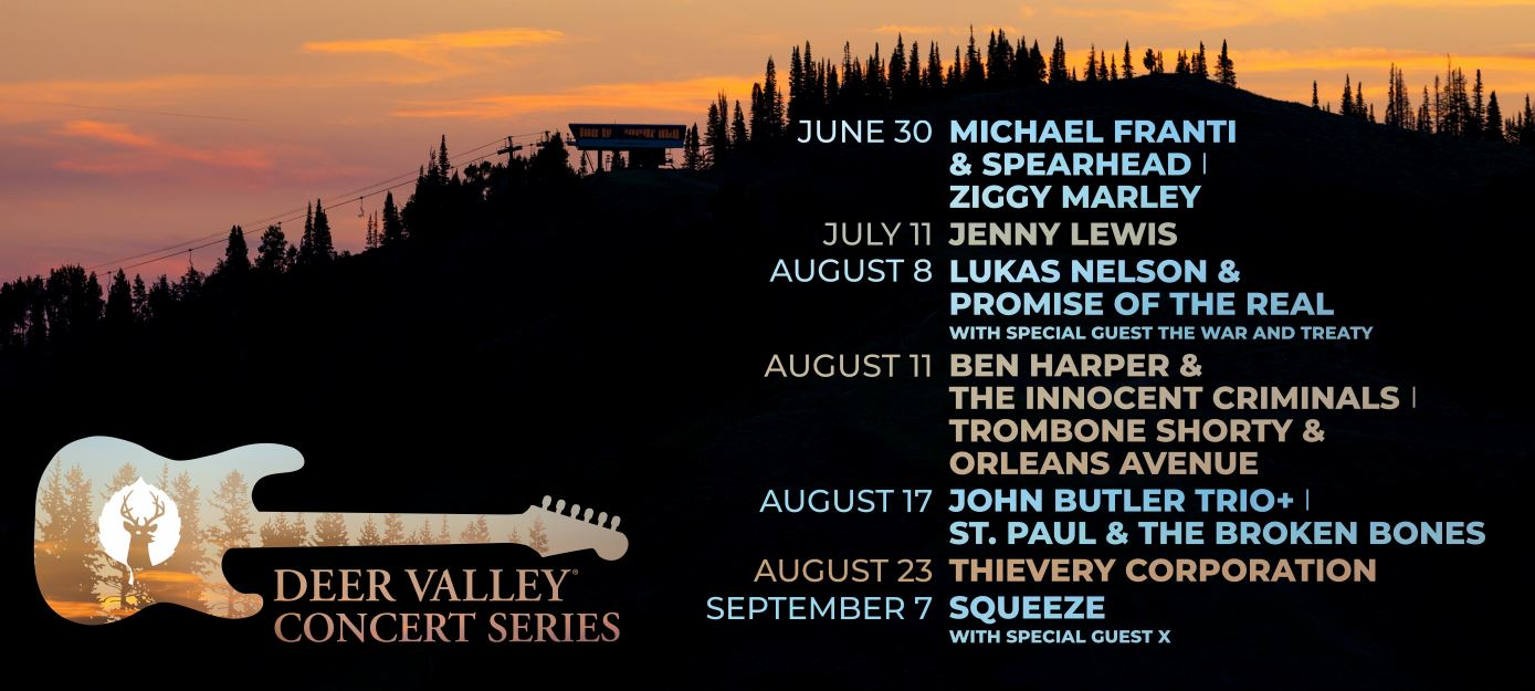 Deer Valley Concert Series Line Up 2019