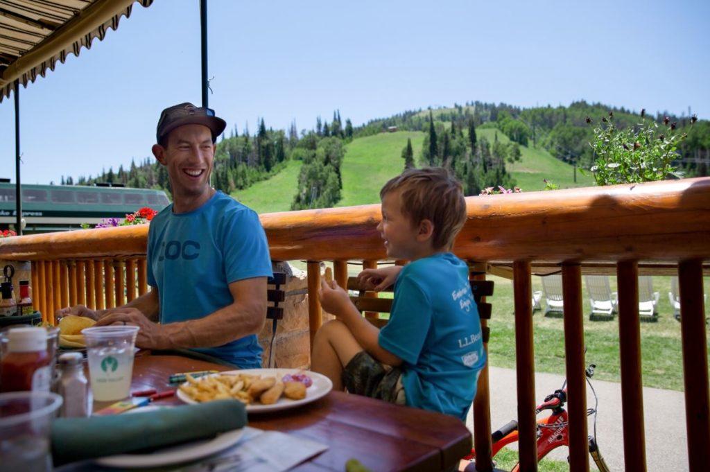 Dining at Deer Valley Resort's Royal Street Cafe in Park City, Utah.
