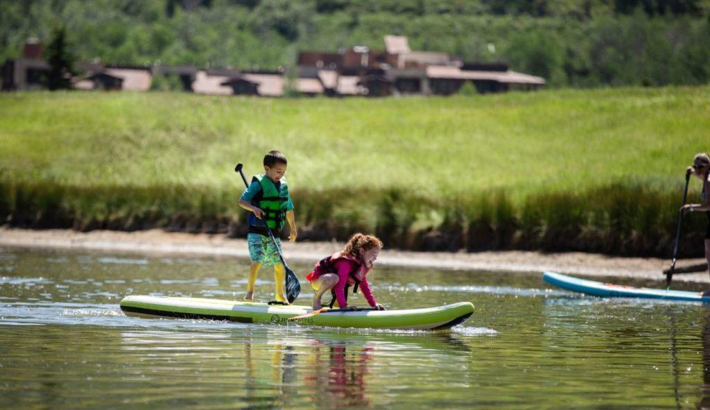Kids Standup Paddleboarding at Deer Valley Resort