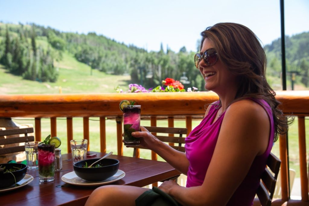 Royal Street Cafe Summer Deck Dining at Deer Valley Resort in Park City, Utah.