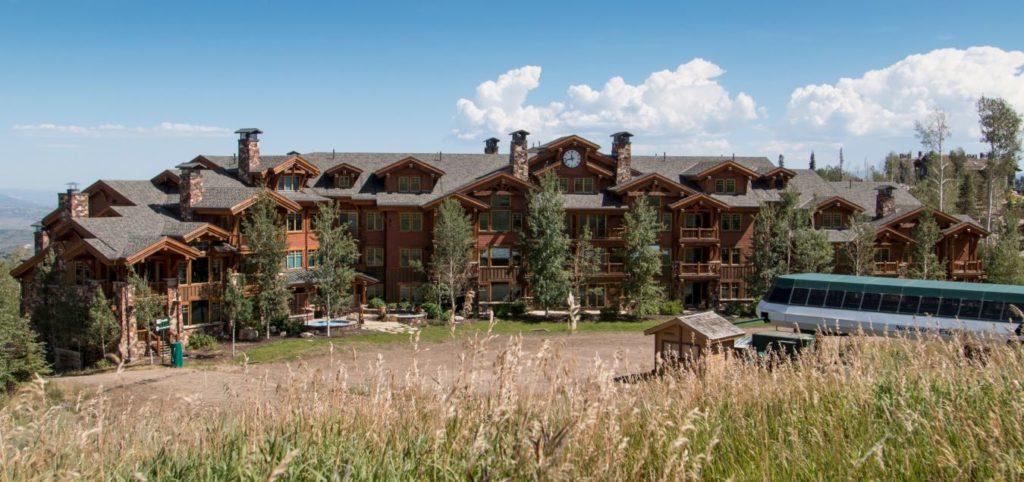 Grand Lodge at Deer Valley Resort in Park City Utah during the summer.