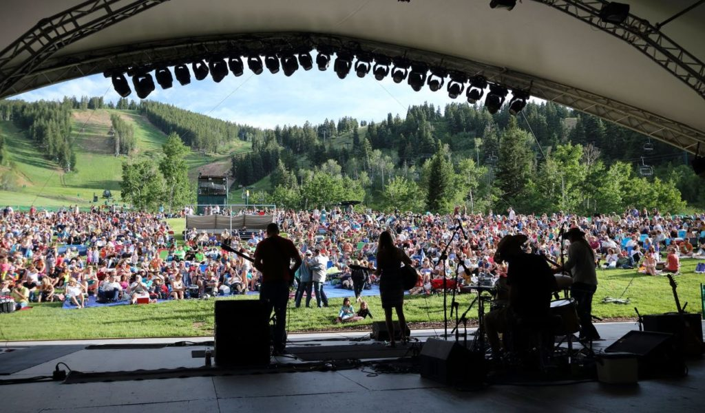 Free community concert in Park City, Utah