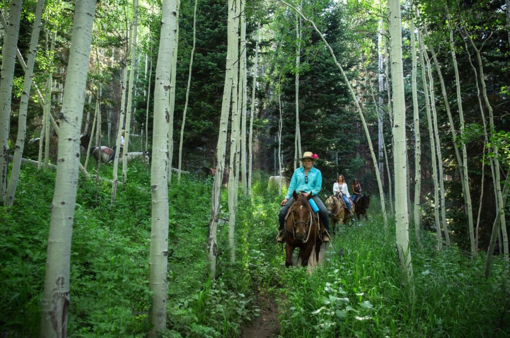 Horseback riding at Deer Valley Resort in Park City, Utah.