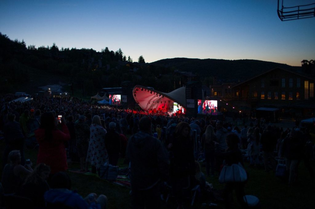 Concert at Dark at Deer Valley Resort in Park City, Utah.