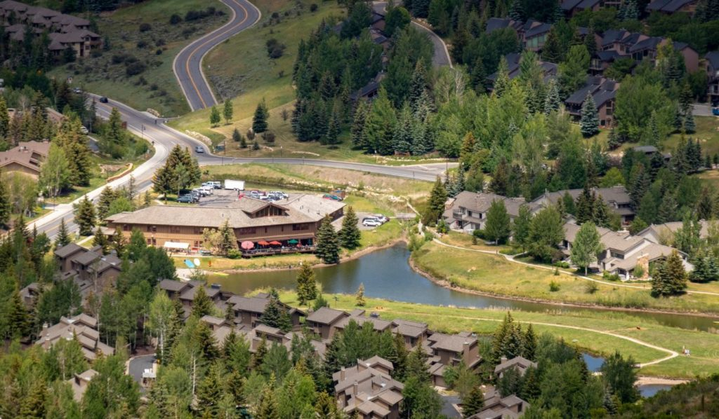 Aerial View of Deer Valley Grocery~Cafe
