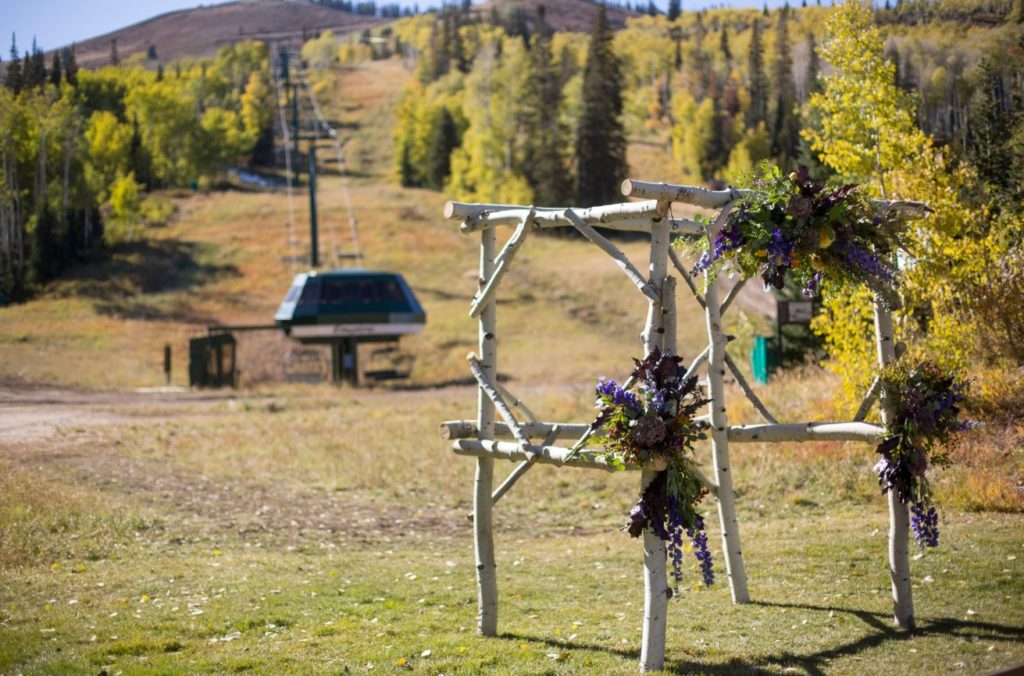 Wedding Arch covered in flowers