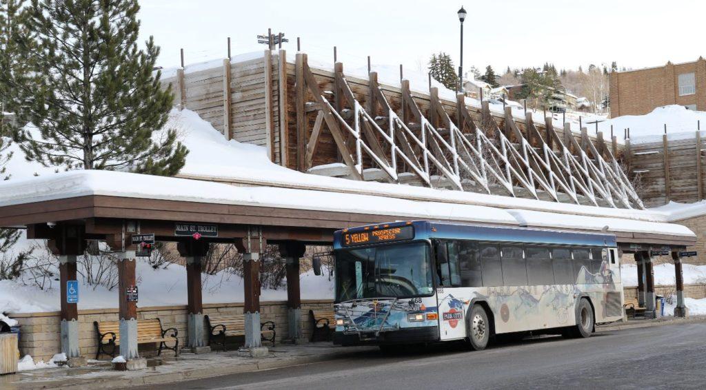 A Bus in Park City, Utah
